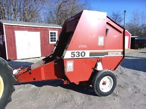 Nice Hesston 530 Round Baler size 4x4 5 Can Ship 1 85 Loaded Mile