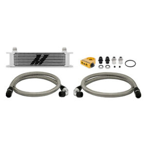 Mishimoto Silver Universal 10 Row Thermostatic Oil Cooler Kit