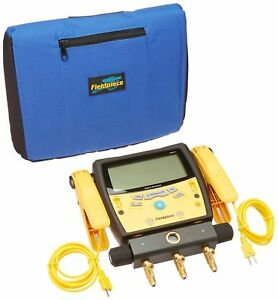Fieldpiece Sman340 3 port Digital Manifold With Pipe Clamps New