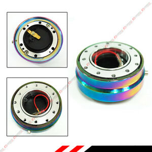 Neo Chrome Aftermarket Steering Wheel Hub Push Button Quick Release For Honda
