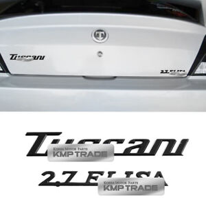 Rear Trunk Tuscani 2 7 Elisa Emblem Set For Hyundai 2002 2007 2008 Tiburon Coupe