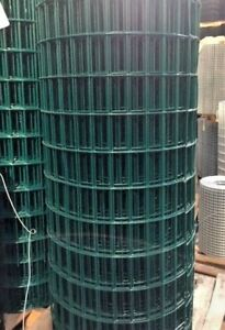 2x4 10 5 Gauge 48 x100 Green Pvc Coated Galvanized Welded Wire Mesh Rolls