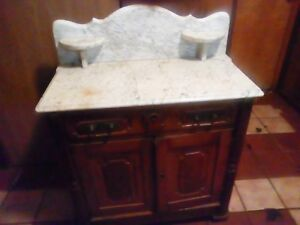 Antique Marble Wash Stand Dresser