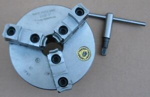 Bison 5 Dia 3205 3 Jaw Chuck W adapter Back Plate