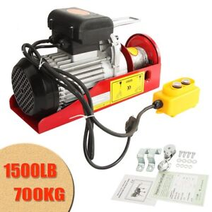 1500 Lb Overhead Electric Hoist Crane Lift Overhead Garage Winch W Remote 110v