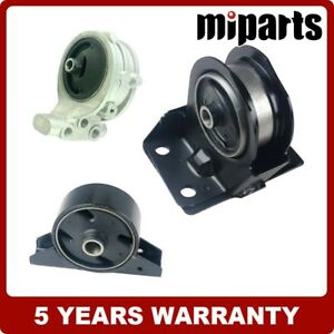 New Rear Front Rightengine Motor Mount Set 3pcs Fit For Mitsubishi Eclipse 2 4