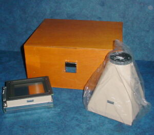 Olympus Microscope Photomicrographic Camera Adapter Set For Polaroid With Case