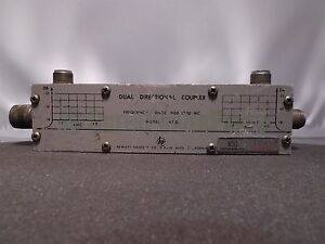 Hp Agilent Eil Instruments 767d Dual Directional Coupler 1900 4000 Mc
