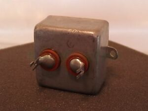 Industrial Cond Corp 8a106114 2x 1uf 1500vdc Vintage Capacitor Nos
