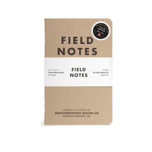 Fn 38 Field Notes Brand Notebook Tenth Anniversary Edition Sealed 3 pack Books