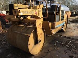 Dresser 708 Asphalt Double Drum Static Roller W cummins Free Ship W 25 Milesonly
