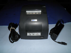 Epson Tm u220d M188d Dot Matrix Pos Receipt Printer Ethernet W Power Supply