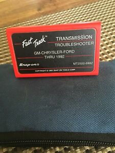Snap On Mt2500 6992 Gm Chrysler Ford Fast Track Transmission Troubleshooter