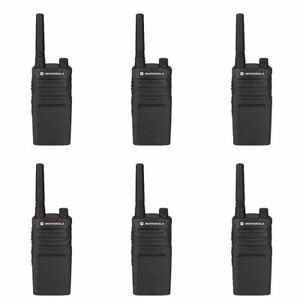 6 Motorola Rmm2050 Vhf Murs Business Two way Radios Rebate