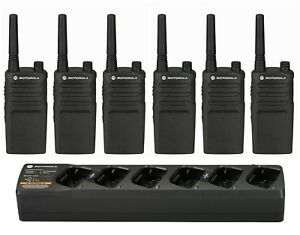 6 Motorola Rmm2050 Vhf Murs Radios With Bank Charger Rebate