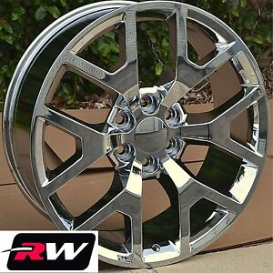 Chevy Tahoe Chrome Wheels Rims 20 Inch 20x9 Gmc Sierra 2014 2015 6x5 50 6x139 7