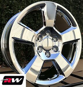 2014 2018 Chevy Silverado 1500 Wheels 5 Spoke Chrome 20 Inch 20x9 Rims 6x5 50
