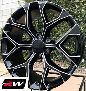 20 Inch Chevy Tahoe Oe Replica Wheels Black Milled 20x9 Rims 6x5 50 6x139 7 24