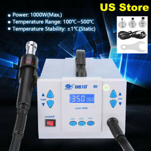 861d Quick Lcd Soldering 1000w Digital Temperature Controller Rework Station Usa