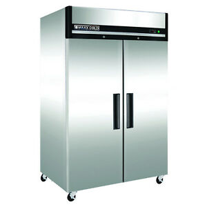 Maxx Cold Mxcf 49fd Double 2 Door Reach in Upright Commerce Nsf Freezer 49cf Rfb