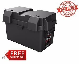 Snap Top Battery Box For Automotive Marine And Rv Batteries Hm318bks 24 31 New