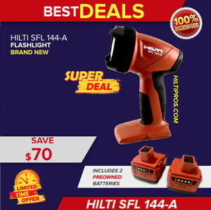 Hilti Flashlight Sfl 144 a Cordless Lamp New With 2 Batteries Fast Ship