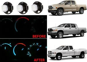 Replacement White Led Bulbs For 2003 2008 Dodge Ram Climate Control Panel New