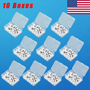 10 Box Dental Polishing Polish Cups Prophy Cup Latch Type Rubber White