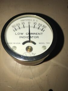 Hoyt 763 Dc Amp Meter Non Contact 30 Amps Vintage Made In Usa Hot Rod Red 2 Pcs