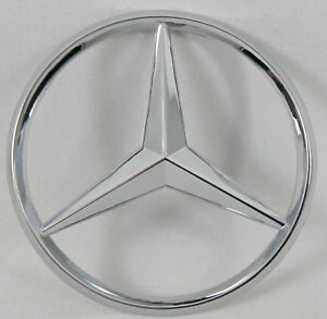 Chrome Trunk Star Rear Badge Emblem For Mercedes Benz 3 80mm Usa Ship