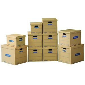 Bankers Box Smoothmove Classic Moving Boxes Value Kit 2 Small 6 Medium 2 Large