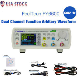 Hot Fy6600 60mhz Dual channel Dds Function Waveform Signal Generator Counter Us