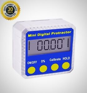Digital Bevel Box Inclinometer Protractor Angle Finder With Magnets Lightweight