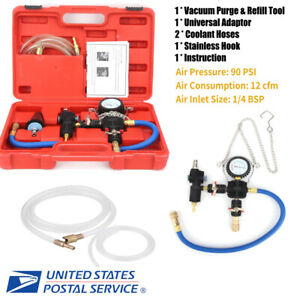 For Car Suv Cooling System Vacuum Purge Van Cooler Coolant Refill Tool Kit Us