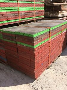 Symons Concrete Wall Forms Steel Ply Panels 40pcs 8 Ft X 2 Ft used