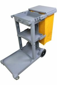 Janitorial Cleaning Cart Rolling Janitor Ultility Cart With Cover 051309 bai