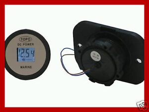 Waterproof 12 Volt Dc Voltmeter gauge For Marine boat 4wd motorcycle rv diy auto