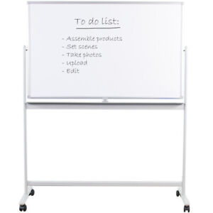 Vivo Mobile Dry Erase Board 48 X 32 Magnetic Double Sided Whiteboard Stand
