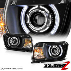 10 13 Chevy Camaro Halo Led Drl Projector Headlight Lamp Replacem
