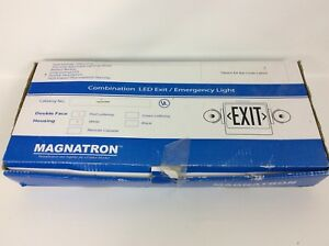 Magnatron Exit Sign Led Emergency Light Double Face White Red Battery Backup