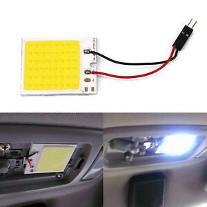 48 Smd Cob Led T10 4w 12v White Light Car Interior Panel Lights Lamp Bulb Set Z