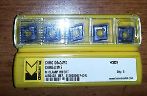 New Kennametal Cnmg 431ms Kcu25 cnmg 120404ms Kcu25 Factory Pack Of 10 Inserts