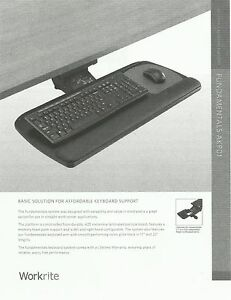 New Fd akp01 17 Workrite Ergonomics Keyboard System With Tray Arm