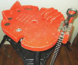 No 450 Ridgid Tristand 1 8 To 5 Portable Chain Pipe Vise Tri Stand Pipe Bender