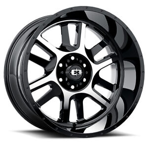 Vision Split Rim 20x12 8x180 Offset 51 Gloss Black Machined Face Qty Of 1