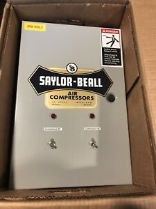 Saylor beall Air Compressor Starter Cabinet Switch Panel