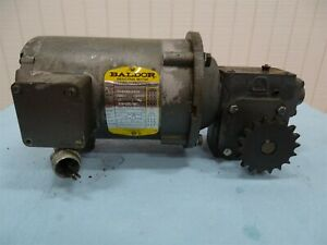 Baldor 34 5455 5406 Electric Motor 5hp 3ph Fr 56c 1700rpm W unbranded Reducer