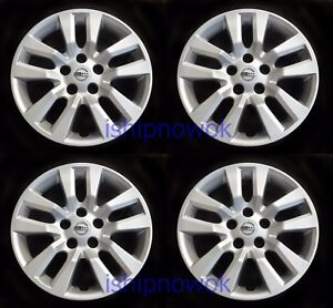 Set 4pcs Hubcap Wheelcover Fits 2013 2017 Nissan Altima 16 10 Spoke New