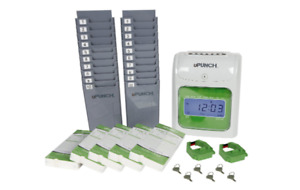 U punch Time Cards Payroll Accounting Holder Employee Management Record Tracking