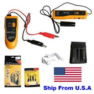 Usa Ship Nf 816 Underground Wire Locator Tracker Lan With Earphone Cable Tester